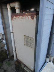 埼玉県飯能市 石油給湯器3万キロ OTQ-3704SAYノーリツ石油給湯器 据え置き