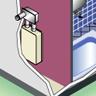 屋内壁掛設置後方排気